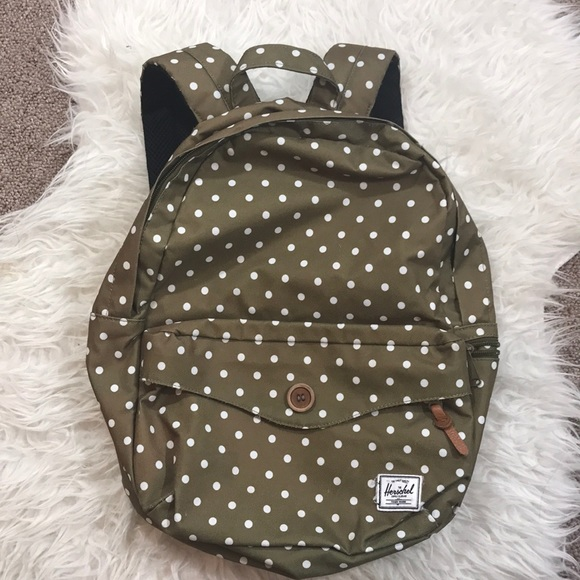 24bdc37d5d Herschel Supply Company Handbags - HERSCHEL SUPPLY CO OLIVE POLKA DOT  BACKPACK